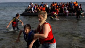 Syrian refugees arrive on a Greek island: http://www.cbc.ca/news/canada/new-brunswick/syrian-refugees-welcome-in-new-brunswick-says-minister-1.3218632