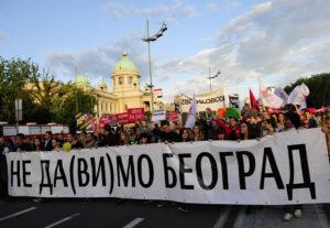 "Belgrade, 25. May 2016 - ""Ne da(vi)mo Beograd"" before the Parliament (Skupstina) in Belgrade. Image: TANJUG / TANJA VALIC / bb"