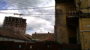 Gentrifying a neighborhood of old public housing, Cluj, August 2016. Photo by Eniko Vincze