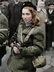 Fifteen year-old revolutionary, later shot by the Soviets. Photo by van Hansen, appeared on cover of Danish weekly Billed Bladet in 1956.