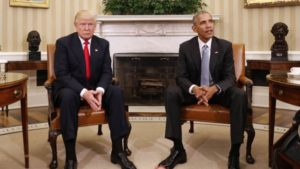 President Barack Obama meets with President-elect Donald Trump in the Oval office
