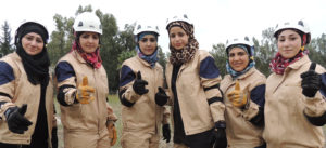 Women from the White Helmet Civil Defense Force (source: http://www.mintpressnews.com)