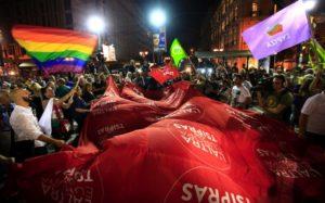 Syriza wins the election in September 2015, despite signing the memorandum in July. Source: Ekathimerini