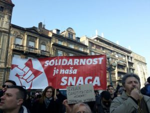 Belgrade protests, February 15, 2017
