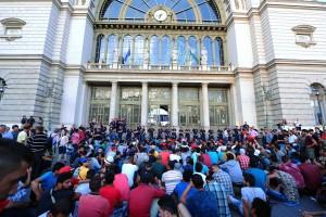 Refugees-Keleti-railway-station