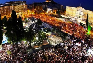 Protesters in Athens occupy Syntagma Square. Image from ROARMAG.org