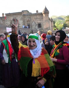 Post-election celebrations in the predominantly Kurdish city of Bitlis. Photo: Haberler.com