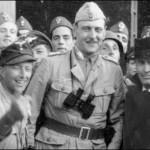 Otto Skorzeny celebrating the rescue of Mussolini, 1943.