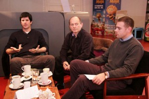 From left to right: Mate Kapović, Denis Geto and Dimitrije Birač. Photo credit: Anita Bukljaš, Index.hr
