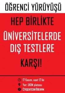 Demonstrating their commitment to ethno-linguistic pluralism, Studentski Plenum put out a Turkish-language call to protest on 17 November against external exams: www.fakulteti.mk